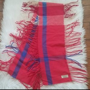Authentic BURBERRY Happy Check Cashmere Scarf